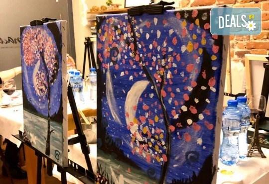 3 часа рисуване с напътствията на професионален художник + чаша вино в Арт ателие Багри и вино! - Снимка 2