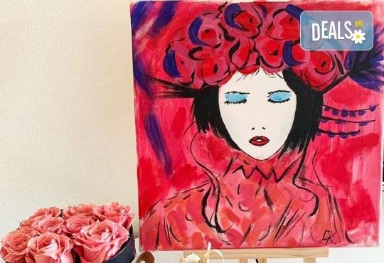 3 часа рисуване с напътствията на професионален художник + чаша вино в Арт ателие Багри и вино! - Снимка 3