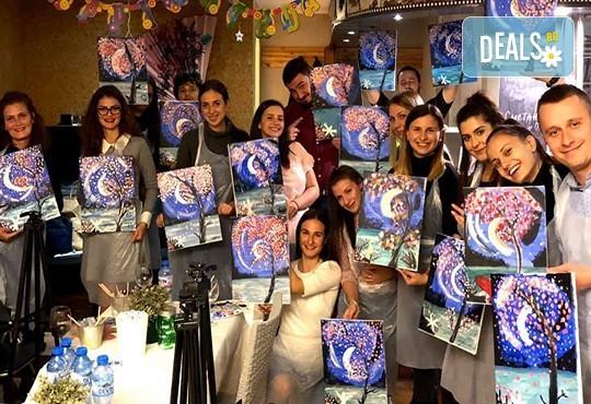 3 часа рисуване с напътствията на професионален художник + чаша вино в Арт ателие Багри и вино! - Снимка 1