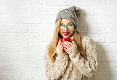 Грижа за косата и през студените дни! Подхранваща терапия, подстригване и оформяне на прав сешоар в салон за красота Хармония! - Снимка