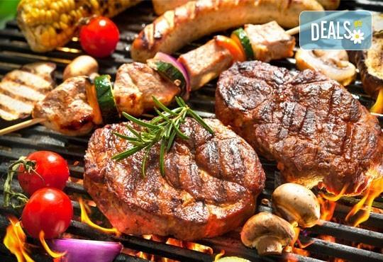 1 кг. скара микс: свинска вратна пържола, пилешка пържола, шишче, суджук и кюфтенца на скара в Ресторант 21 - Лозенец - Снимка 1