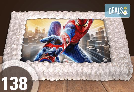 Експресна торта от днес за днес! Голяма детска торта 20, 25 или 30 парчета със снимка на любим герой от Сладкарница Джорджо Джани! - Снимка 23