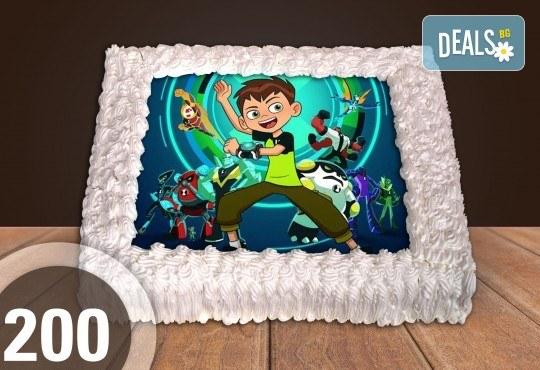 Експресна торта от днес за днес! Голяма детска торта 20, 25 или 30 парчета със снимка на любим герой от Сладкарница Джорджо Джани! - Снимка 84