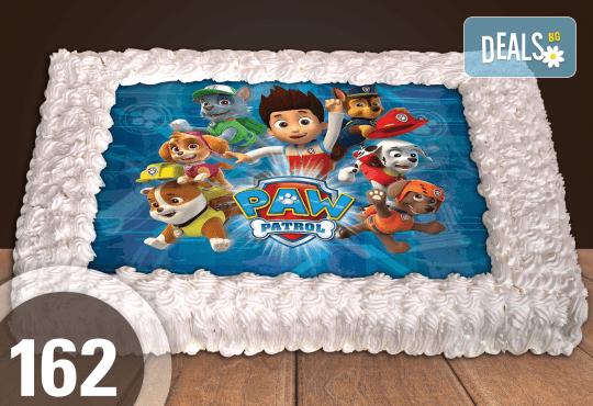 Експресна торта от днес за днес! Голяма детска торта 20, 25 или 30 парчета със снимка на любим герой от Сладкарница Джорджо Джани! - Снимка 3