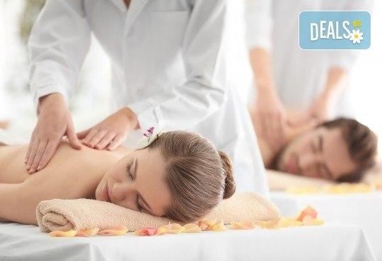 Изтокът среща Запада! Двоен енергиен масаж за двама при физиотерапевт от Филипините и СПА терапевт от Европа с ароматни екзотични масла в Senses Massage & Recreation! - Снимка 1