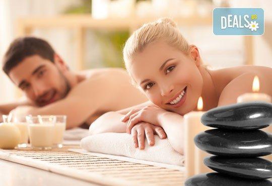 Семеен релакс! Синхронен масаж за двама, зонотерапия, Hot stone масаж и терапия на лице в Senses Massage & Recreation - Снимка 2