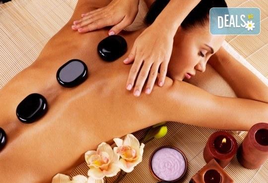 100% релакс! 3 релакс масажа със злато, Hot stone, шоколад и арома