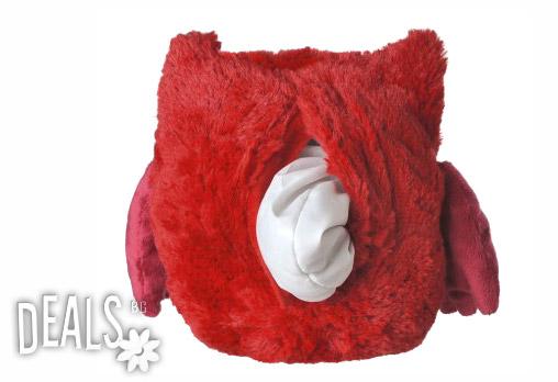 Нагряващо се Червено Бухалче от Warmies - Снимка 3