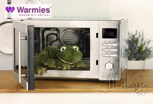 Плюшенo нагряващo се и охлаждащo се вързопче жаба от Warmies - Снимка 2