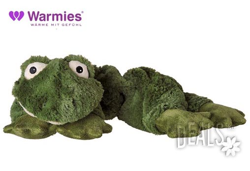 Плюшенo нагряващo се и охлаждащo се вързопче жаба от Warmies - Снимка