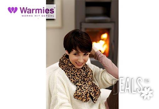 Плюшен нагряващ се и охлаждащ се шал леопард от Warmies - Снимка 3