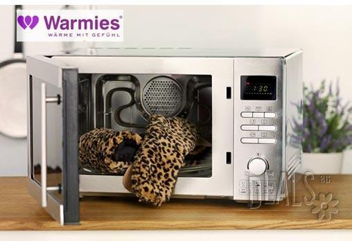 Плюшен нагряващ се и охлаждащ се шал леопард от Warmies - Снимка 2