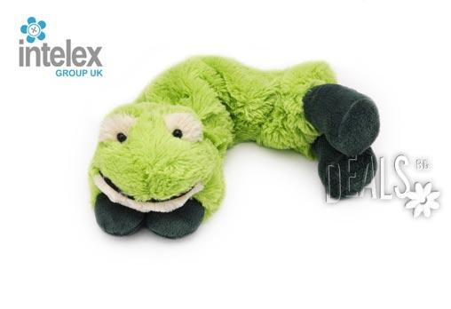 Плюшен нагряващ се Шал Жаба Cozy Wrap Frog от Intelex - Снимка