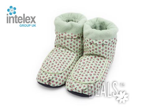 Плюшени нагряващи се Ботуши зелени (36-40) Hot Pack Boots Green от Intelex - Снимка