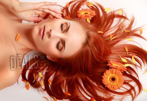 За красива и здрава коса! Масажно измиване, подхранваща терапия с арган, подстригване и подсушаване или оформяне на прическа със сешоар на цени от 5.90лв в Салон за красота Феникс!