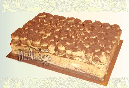 Опитайте най-новият сладкиш на Джорджо Джани! Тирамису - маскарпоне, бишкоти, кафе, ликьор в 12 парчета за 12.80лв!
