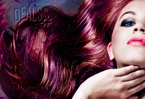 Нов цвят, за да сте в тон с есента! Вземете боядисване с боя Милк Шейк, масажно измиване, оформяне на прическа със сешоар + Бонус: терапия за боядисана коса само за 21.90лв вместо 72лв в Салон Golden Angel!