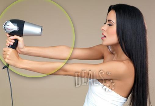Ново! Терапия за коса Луксозен кашмир Amethyste + оформяне на косата с йонизиращ сешоар /права или на букли/ само за 10.99лв вместо 30лв в Салон за красота Goldy Style във Варна!