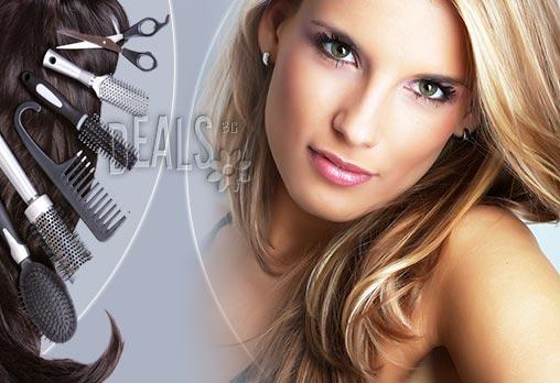 Подгответе се за зимата - специална грижа за Вашата коса - терапия + прическа (сешоар, преса,букли ) или подстригване и сешоар в Салон Golden Angel!