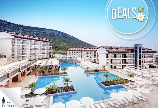 Май в Ramada Resort Hotel 4+*,Дидим: 5 нощувки на човек на база All Incl и транспорт от Лъки Холидей.Предплатете 50лв!