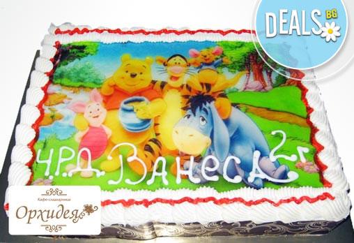 Детски торти МЕЧТА! Торти с фотодекорация - Ну погоди, Мечо Пух, Макуин или с Ваша снимка от Сладкарница Орхидея