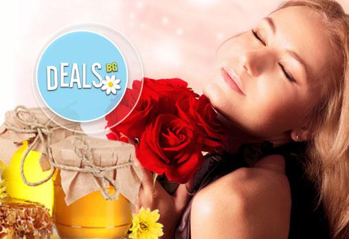 """СПА ритуал за двама """"Мед и рози""""! Два масажа на цяло тяло с масажно масло EcoSpa в център Мотив!"""