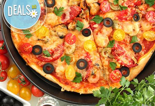 2 бр. XL пици с общ грамаж от 1600гр по избор от над 17 вида пици от цялото меню от ''Пица&дюнер Presto''! - Снимка 2
