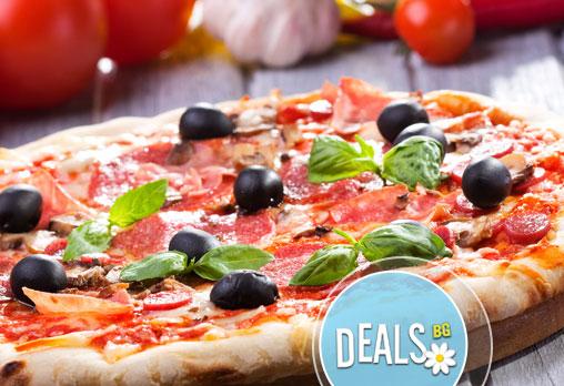 2 бр. XL пици с общ грамаж от 1600гр по избор от над 17 вида пици от цялото меню от ''Пица&дюнер Presto''!