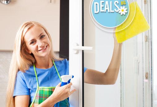 Великденско почистване с Перфект ТЕД! Вземи двустранно почистване на прозорци и дограма на жилище/ офис до 80 кв.м