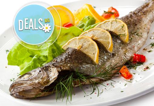 Средиземноморски кулинарен круиз ЗА ДВАМА! ДВЕ порции риба по избор: Лаврак, Пъстърва, Ципура в Ресторант BALITO