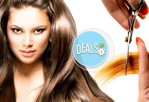 За разкошна коса! Дамско подстригване, терапия за растеж и оформяне на прическа в Luxury wellness&Spа!