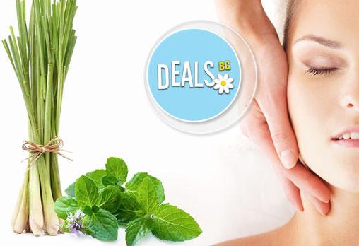 Релаксирайте с аромамасаж на цяло тяло с етерично масло от мента, лимонена трева или иланг-иланг в център Innovative!