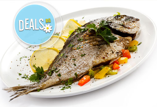 Полезните Омега-3! ДВЕ порции риба: пъстърва или норвежка скумрия (пържена/ печена) + картофки за гарнитура в р-т Balito