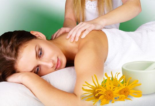 Спрете болката с лечебен масаж на цял гръб с арника от N&S Fashion зелен салон!