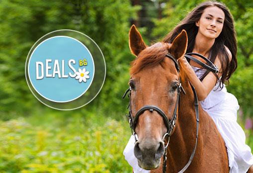 30-минутен урок по конна езда с инструктор или конна езда с водач в Конна база Драгалевци или Нова звезда!