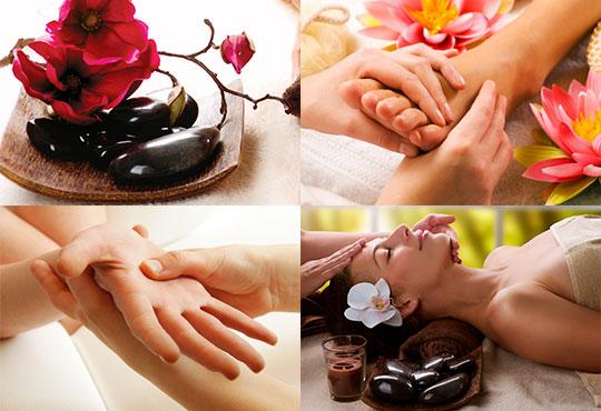 Релаксиращ масаж за тяло с вулканични камъни и подарък - рефлексотерапия на длани, скалп и стъпала в Luxury wellness&Spа