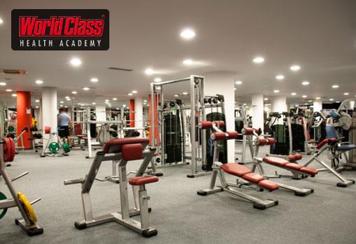 Едномесечна карта за неограничени посещения на фитнес, групови спортни занимания, басейни и СПА зона в World Class Health Academy Spa & Fitness!