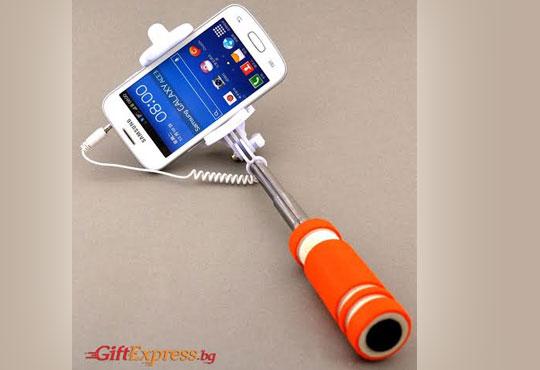 Необходимият аксесоар за Вашите снимки! Монопод за смартфони, фотоапарати и GoPro камери за селфита от Gift Express!