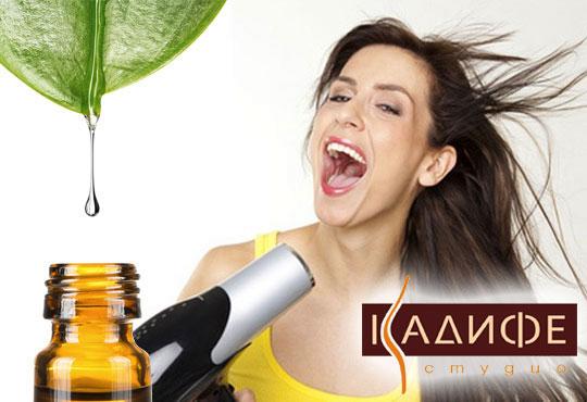 Нежна грижа за здрава и красива коса! Измиване, ампула според нуждите на косата и изсушаване със сешоар от СПА студио Кадифе!