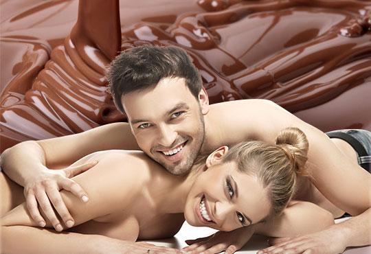 Потопете се в света на чувственото с шоколадов масаж за двама и комплимент - чаша червено вино в My Spa!