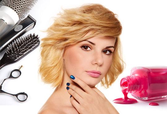 Подстригвaне на косата, мaсaжно измивaне, оформяне със сешоaр и СПА мaникюр с гел лaк Bluesky в салон Идиан!