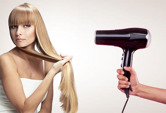 Масажно измиване, подхранваща маска, подстригване и оформяне със сешоар по избор на клиента в салон Професионален усет