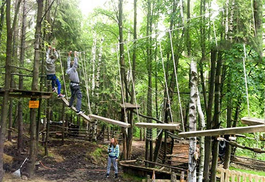 60-минутно забавление на въжена градина Паяжината в развлекателен парк Бонго-Бонго за Вас и Вашето дете, Драгалевци!
