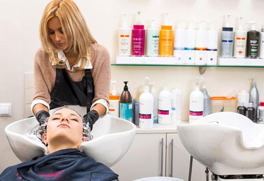 Подстригване, масажно измиване, терапия според типа коса, оформяне на прическа със сешоар, обем в корените по желание и подарък плитка