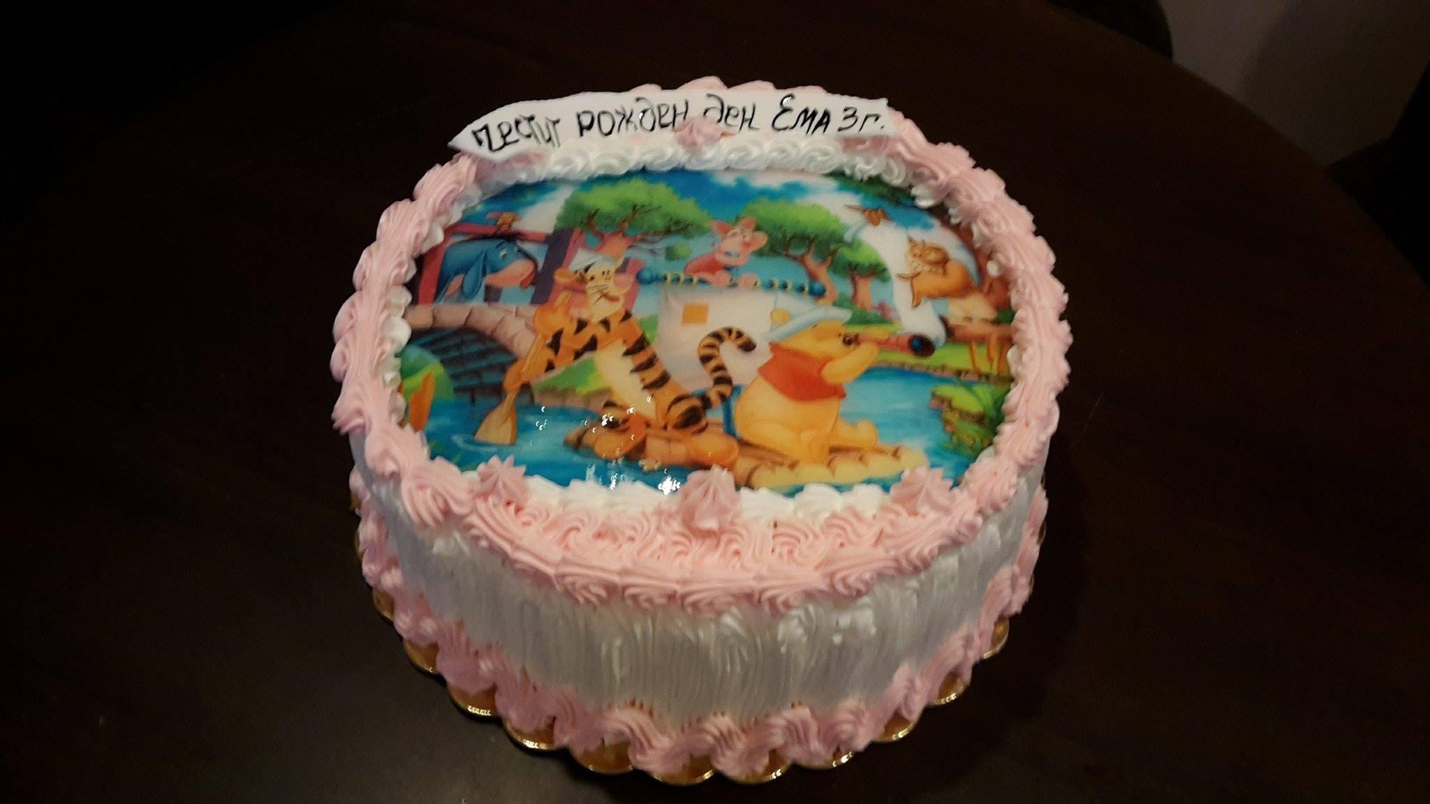 С любима снимка! Голяма детска торта 20, 25 или 30 парчета със снимка на любим герой от Сладкарница Джорджо Джани! - Снимка 6
