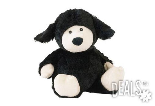 Плюшена нагряваща се черна овчица