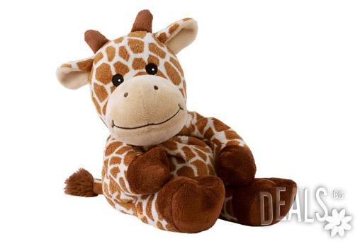 Плюшено нагряващо се Жирафче