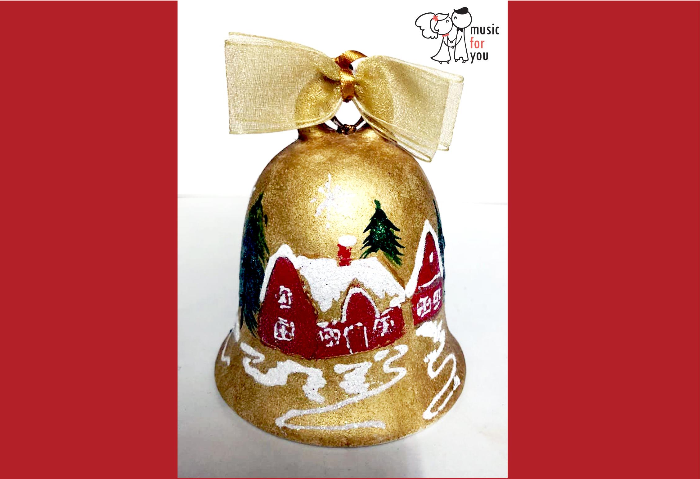 Подарък за празниците! Рисувана бутилка червено вино с празнична декорация + арт камбанка от Music for You! - Снимка 9
